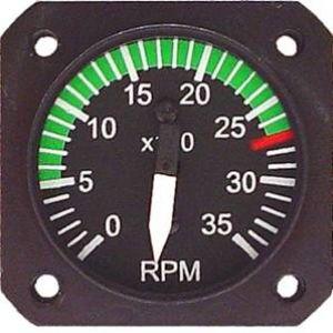 Indicatore RPM 57d, per motore Lyco, range 0/3500rpm, B/W Uma + Sensore RPM magnetico