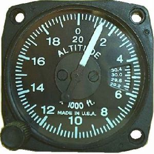 Altimetro range 0-10000 feet, 57d, millibar