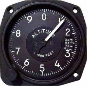 Altimetro range da  0-20000 feet, 80d ,millibar