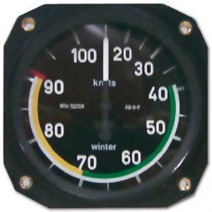 Anemometro range 0 - 160 mph, 57d, 360°, form 1