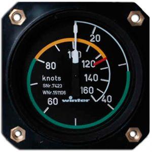 Anemometro range 0 - 220 knots , 80d, 510° , form 1