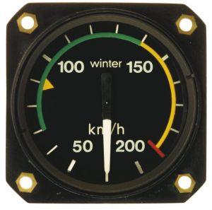Anemometro range 0 - 250 km/h, 57d, 360° , form 1
