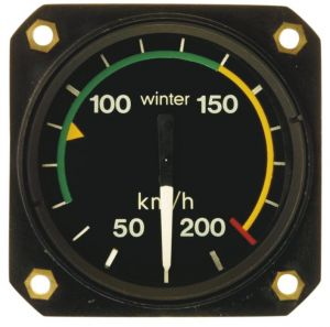Anemometro range 0 - 350 km/h , 80d , 510° , form 1