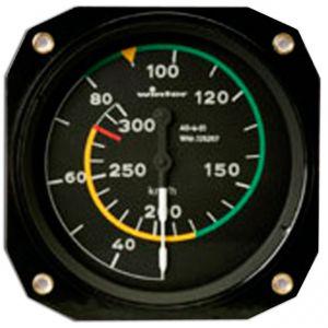 Anemometro range 0- 400 km/h , 80d, 510°, form 1