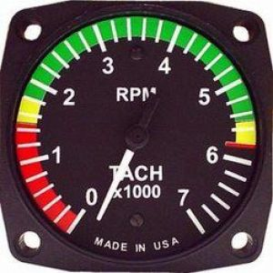 Indicatore RPM 80d, Rotax 912/914, 0-7000 rpm con archi colorati, UMA