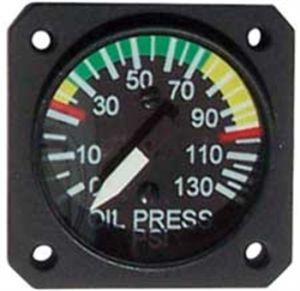 """Indicatore pressione OLIO 0-10 bar UMA 1.1/4 """" per sensore VDO, con archi colorati 912"""