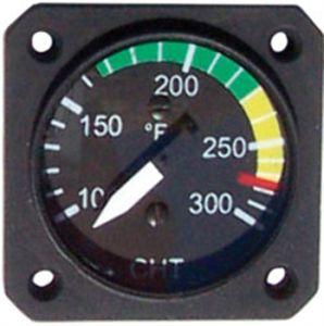"""Indicatore temperatura OLIO 40-150° UMA 1.1/4 """" per sensore VDO, con archi colorati 912"""