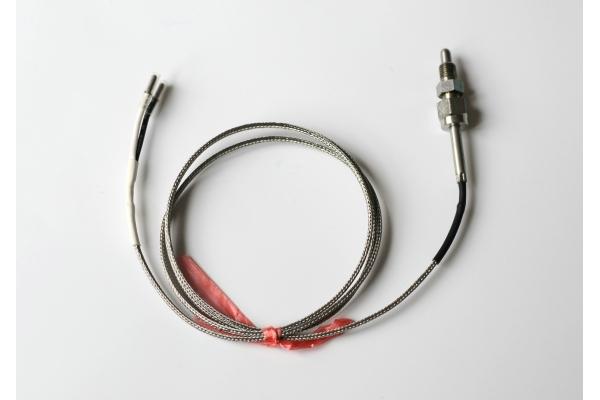 Sonda EGT a vite per Rotax, termocoppia tipo K, cavo 1 mt, filetto M8x1
