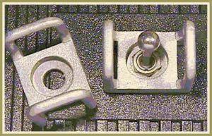 Guardiola laterale ricavata dal pieno tipo mini per switch a levetta