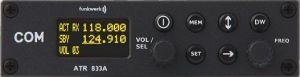 COM VHF Funkwerk ATR 833 OLED ETSO, 8,33 Khz, rack da 160 mm