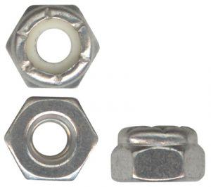 Dado in pollici AN3 autobloccante, tipo commerciale, Inox 365-1032