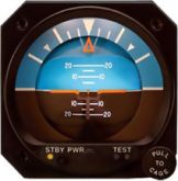 Orizzonte artificiale elettrico, modello RCA26BK-12, certificato TSO