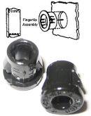 Snap Bushing in plastica nera, tipo 2030, SB 375-4