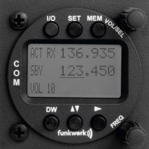 Unità di controllo biposto Funkwerk TRT800, 57mm rack, Display LCD