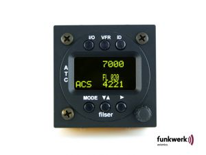 Unità di controllo biposto Funkwerk TRT800, 57mm rack, Display OLED