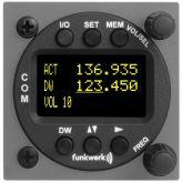 Unità remota Funkwerk, per il controllo ATR833, 57 mm rack, display OLED, solo per la versione 2 Knop