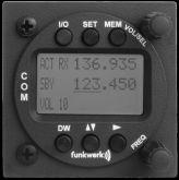 Unità remota Funkwerk, per il controllo dell'unità ATR833, 57 mm rack, Display LCD