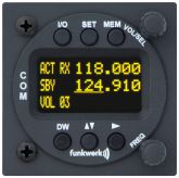 COM VHF Funkwerk ATR 833 OLED TSO, 8,33 Khz, 57d