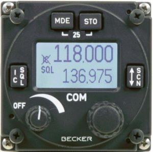 COM VHF Becker AR6201 (122), 25 Khz, 6 W