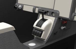 """RV-10 Throttle Quadrant inserto di tipo 1 (Adatto a Stan, G900, 10 """"EFIS)"""