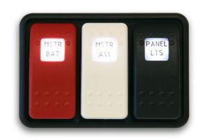 Switch doppio LED DPST on-off-on