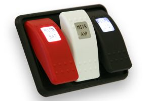 Cover Switch Red Single LED Rocker without Lettering