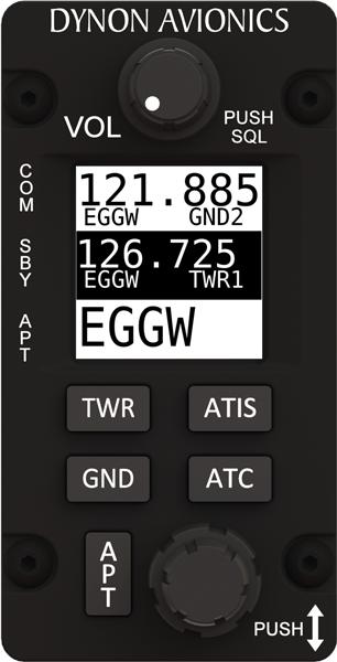 Radio SV-COM-X83/V SkyView VHF Com (8.33 kHz, Vertical)