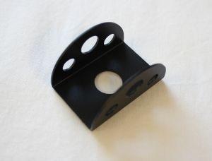 Guardiola a mezzaluna in alluminio per interruttori con foro diametro 12 mm