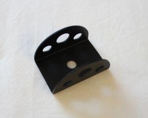 Guardiola a mezzaluna in alluminio per interruttori con foro diametro 6 mm