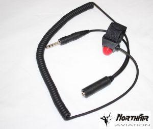 Cavo Ptt con cavo spiralato e jack/socket microfono da 5,2 mm