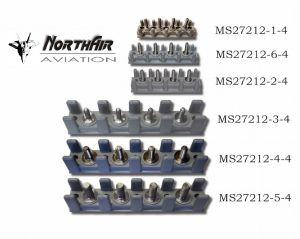Morsettiera MIL MS27212-2-8 con 8 giunti