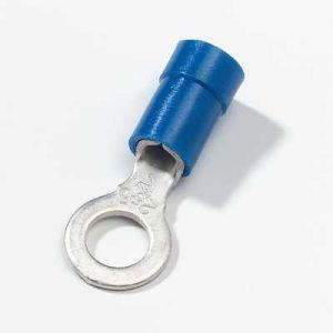Occhielli Colore: Blu, per cavo: 16-14, Adatto per un foro da 6mm, Confezione da 10 pz