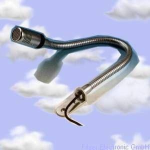 Microfono dinamico per aliante, lunghezza cavo 4,5 mt , include staffa angolare