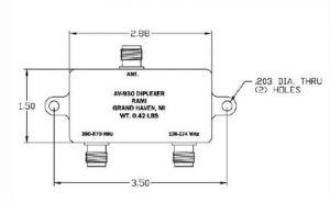 Antenna Rami Diplexer AV- 930,136-174, 380-870 MHz