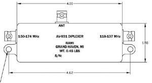 Antenna Rami Diplexer AV- 931, 118-137, 150-174 MHz