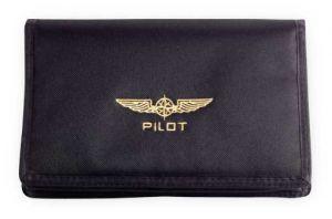 Portadocumenti Pilot, Black, Small