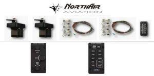 Kit opzione : Autopilota 2 assi avanzato > con 2 servi, cablaggi per servo, 1 hub , 2 kit ferramenta generici, knob e ta