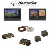 "Kit Skyview doppio monitor HDX 10"" con PFD ( parte volo ) + GPS + EMS ( parte motore ) , 2 batterie bkp, vis. sintetica"