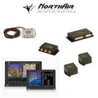 "Kit Skyview doppio monitor HDX 10""+ HDX 7"" con PFD ( parte volo ) + GPS + EMS ( parte motore ) , 2 batterie bkp, vis. si"