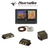 "Kit Skyview singolo monitor HDX 10"" con PFD ( parte volo ) + GPS + EMS ( parte motore ) , batteria bkp, vis. sintetica"