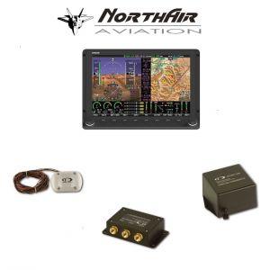 "Kit Skyview singolo monitor HDX 10"" con PFD ( parte volo ) + GPS , batteria bkp, vis. sintetica"