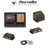 "Kit Skyview singolo monitor HDX 7"" con PFD ( parte volo ) + GPS + EMS ( parte motore ) , batteria bkp, vis. sintetica"