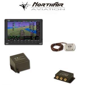 "Kit Skyview singolo monitor HDX 7"" con PFD ( parte volo ) + GPS , batteria bkp, vis. sintetica"