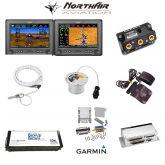 "Kit G3X Touch (GDU 450), doppio monitor 7"" orizzontale, PFD+GPS+EMS, batteria bkp, install.kit, ant.GPS"