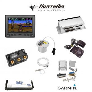 "Kit G3X Touch (GDU 450), singolo monitor 7"" orizzontale, PFD+GPS+EMS, batteria bkp, install.kit, ant.GPS"