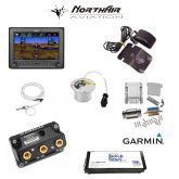 "Kit G3X Touch (GDU 450), singolo monitor 7"" orizzontale, PFD+GPS, batteria bkp, install.kit, ant.GPS"
