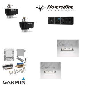 Kit opzione : Autopilota 2 assi> con 2 servi, 1 Centralina GMC305 w/Yd, 2 kit ferramenta generici