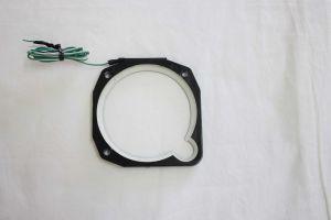 Cerchio illuminazione strumenti mod. NULITE per strumenti diam 80 con scasso laterale, colore Bianco