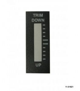 Adesivi placchette frontali per indicatori Ray Allen RP3 Pitch Trim alto Down/basso Up
