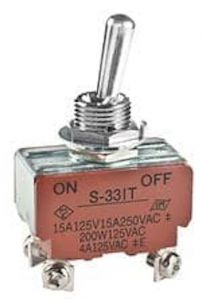 Interruttore On-Off bipolare a levetta, occhiello, DPSP, per circuito 912 IS, 20A @28V
